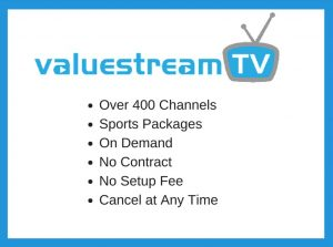image of valuestream tv over 400 channels