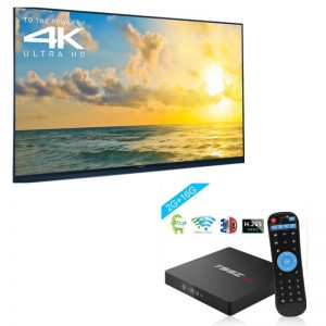 image of tvscreen with streaming box